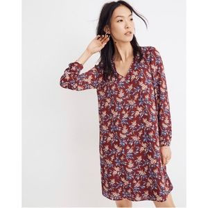 NWT Madewell Button-Back antique floral dress Sz M